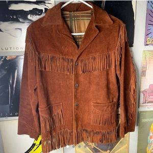 Genuine Leather 70's Fringe Jacket